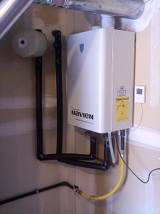 upgrading Plumbing in Goodyear AZ with new navien tankless water heater